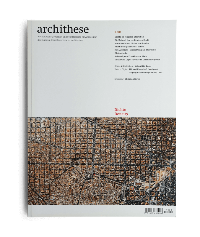 Cover Archithese 2011 v4